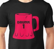 Drunk Numbers 1 Unisex T-Shirt