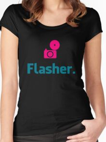 Flasher Photographer Women's Fitted Scoop T-Shirt