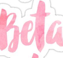Pi Beta Phi Pink Watercolor Sticker