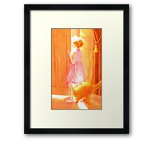 whose at the door Framed Print