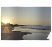 Hikkaduwa Beach Sunset Poster