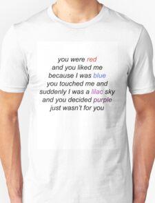 COLORS HALSEY LYRICS T-Shirt