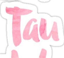 Zeta Tau Alpha Pink Watercolor Sticker