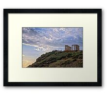 Cape Sounion - The Temple Framed Print
