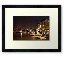 Portishead Marina at Night Framed Print