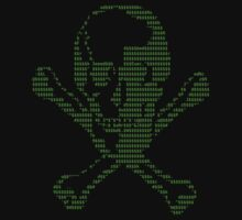 ASCII Skull and Crossbones - Hacker Edition by dale rogers