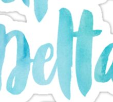 Alpha Delta Pi Blue Watercolor Sticker