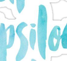 Alpha Epsilon Phi Blue Watercolor Sticker