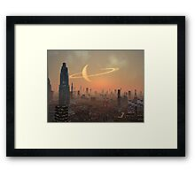 Hot Summer Night in Alien City Framed Print