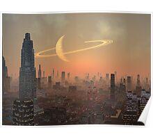 Hot Summer Night in Alien City Poster