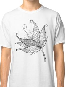 Patterned Flower Ink Drawing 01 Classic T-Shirt