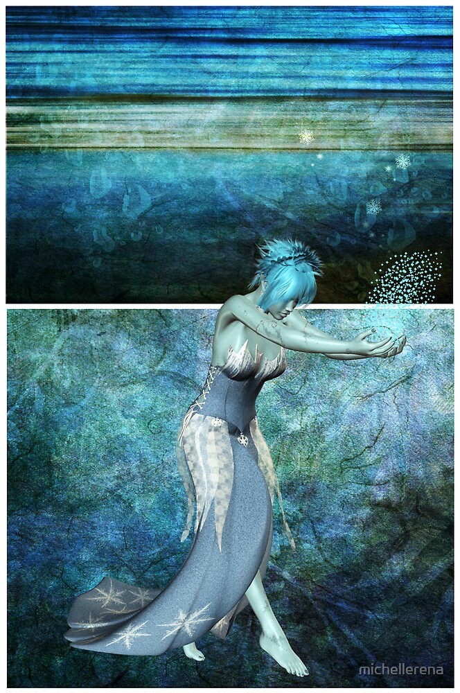 Queen of the sea... Diptych by michellerena