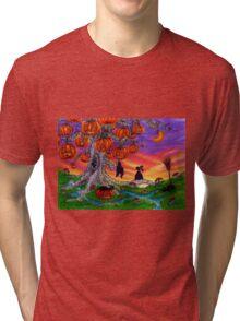 BUNNY'S ALBINO HALLOWEENTREE Tri-blend T-Shirt
