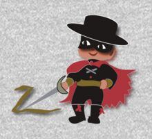 Retro Kid Billy features the legendary Zorro  One Piece - Long Sleeve