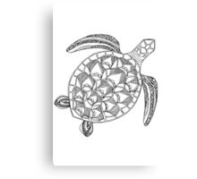 Patterned Turtle Ink Drawing Canvas Print