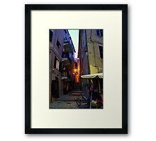 Monterosso Alley Framed Print