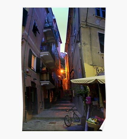 Monterosso Alley Poster