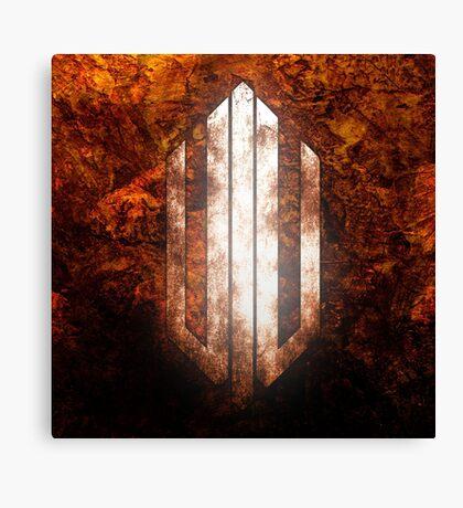 Intervoid Orange Crumpled Logo Canvas Print