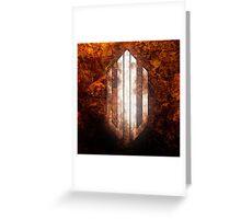 Intervoid Orange Crumpled Logo Greeting Card