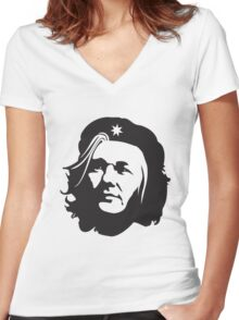 Che Assange Women's Fitted V-Neck T-Shirt