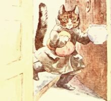 The Tailor of Gloucester Beatrix Potter 1903 0045 Cat With Cream Sticker