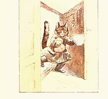 The Tailor of Gloucester Beatrix Potter 1903 0045 Cat With Cream by wetdryvac