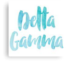 Delta Gamma Blue Watercolor Canvas Print