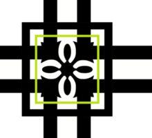 Square Box and Stripe Pattern Sticker