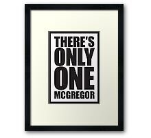 Conor McGregor - Quotes [Only One McGregor] Framed Print