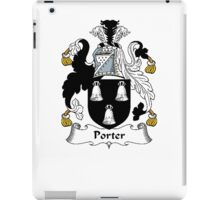 Coat of arms (family crest) for last-name or surname Porter . Heraldry banner for your name. iPad Case/Skin