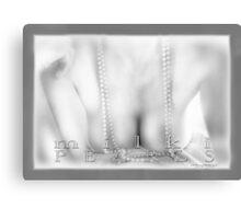 Milki Pearls Mono © Vicki Ferrari Photography Canvas Print