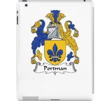 Coat of arms (family crest) for last-name or surname Portman . Heraldry banner for your name. iPad Case/Skin