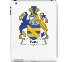 Coat of arms (family crest) for last-name or surname Pott (s) . Heraldry banner for your name. iPad Case/Skin