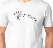 Fire Aliens love birds Unisex T-Shirt