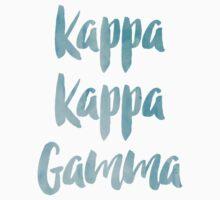 Kappa Kappa Gamma Blue Watercolor by rosiestelling