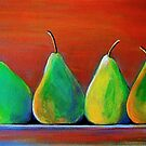 Two pairs of pears by vickimec