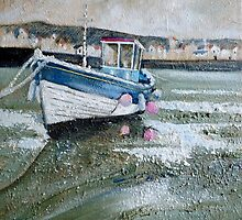 Seaton Rose in Staithes Harbour by Sue Nichol