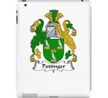 Coat of arms (family crest) for last-name or surname Pottinger . Heraldry banner for your name. iPad Case/Skin