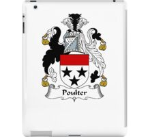 Coat of arms (family crest) for last-name or surname Poulter . Heraldry banner for your name. iPad Case/Skin