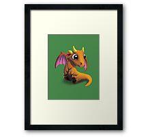 Little Baby Dragon Framed Print