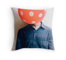 balloon head Throw Pillow