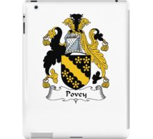 Coat of arms (family crest) for last-name or surname Povey . Heraldry banner for your name. iPad Case/Skin