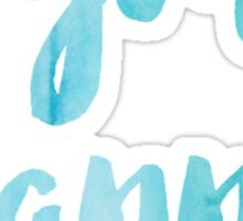 Sigma Kappa Blue Watercolor Sticker