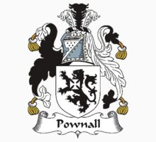 Coat of arms (family crest) for last-name or surname Pownall . Heraldry banner for your name. T-Shirt