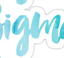 Sigma Sigma Sigma Blue Watercolor Sticker