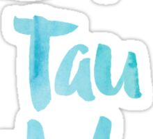 Zeta Tau Alpha Blue Watercolor Sticker