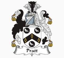 Coat of arms (family crest) for last-name or surname Pratt . Heraldry banner for your name. T-Shirt