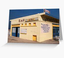 Beach Bar Greeting Card