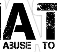 Math Mental Abuse To Humans Sticker
