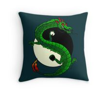 Yin Yang Dragon Throw Pillow